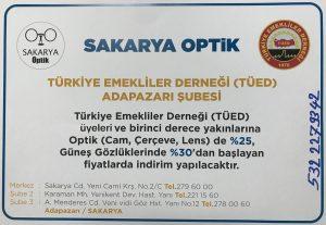 Sakarya Optik'ten TÜED Adapazarı üyelerine özel indirim